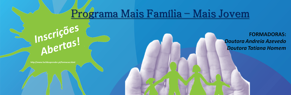 Inscrições para a formação no programa Mais Família-Mais Jovem