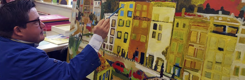 Queres conhecer um artista plástico excecional? Vem ser voluntário na APCC!
